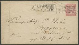 NDP 1871, UMSCHLAG U1A, STPL-R3 STOLZENBERG, SELTEN AUF NDP. - North German Conf.