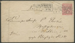 NDP 1871, UMSCHLAG U1A, STPL-R3 STOLZENBERG, SELTEN AUF NDP. - Conf. De L' All. Du Nord