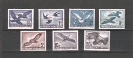 """Österreich 1950/53: """"Flugtpostmarken Heimische Vögel"""" 967/72 Postfr.Luxus (s.Foto) ANK 420,--€ - 1945-.... 2nd Republic"""