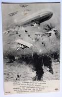 CPA Guerre 1914 1918 Attaque Du Cuxhaven Port Allemand Par Hydravions Contre Torpilleurs Anglais Saint Pierre La Rivière - Guerre 1914-18