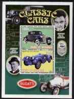 65739 Myanmar 2001 Classic Cars (Graham Paige Bleu & Bugatti) Perf Sheetlet Containing 2 Values Unmounted Mint - Myanmar (Birmanie 1948-...)