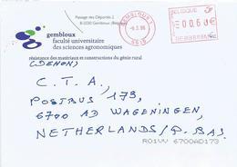 """Belgium 2006 Gembloux Pitney Bowes """"A900"""" BEBB EMA Cover - 2000-..."""