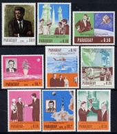 5133 Paraguay 1967 Kennedy Perf Set Of 9 Unmounted Mint (space Helicopter) - Paraguay