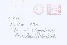 "Switzerland Schweiz 2001 Zürich Meter Hasler ""Mailmaster"" EMA Cover - Frankeermachinen"
