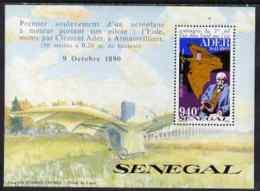 66377 Senegal 1991 Centenary Of Ader's First Heavier Than Air Flight 940f Perf M/sheet U/m SG MS 1110 (aviation) - Senegal (1960-...)