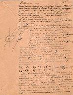 VP12.950 - MILITARIA - LE MANS 1918  - Génie Militaire - Problème ......... - Documents