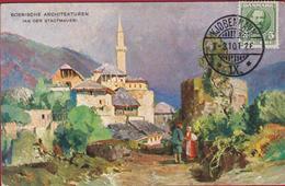 Bosnische Architekturen Bosnia And Herzegovina Bosna I Hercegovina Old Postcard Illustrator 1910 - Bosnie-Herzegovine