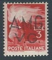 1945-47 TRIESTE AMG VG DEMOCRATICA 3 LIRE MH * - RR13178-5 - Trieste