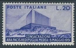 1951 ITALIA ARA PACIS MH * - RR13208 - 1946-60: Nieuw/plakker
