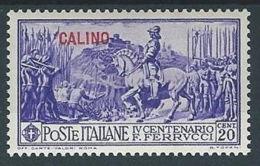 1930 EGEO CALINO FERRUCCI 20 CENT MH * - RR13569 - Egeo (Calino)