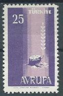 1958 EUROPA TURCHIA 25 K MH * - EV - Europa-CEPT