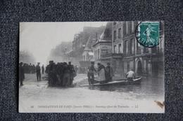 PARIS - Inondations De Janvier 1910 : Sauvetage Quai Des Tournelles ( 5 ème Arrondissement). - Arrondissement: 05