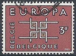 1963 BELGIO USATO EUROPA 3 F - Europa-CEPT