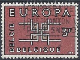 1963 BELGIO USATO EUROPA 3 F - 10 - Europa-CEPT
