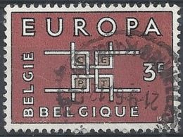 1963 BELGIO USATO EUROPA 3 F - 3 - Europa-CEPT