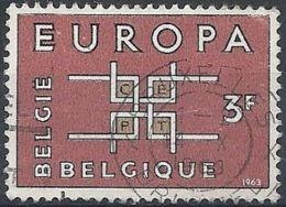 1963 BELGIO USATO EUROPA 3 F - 6 - Europa-CEPT