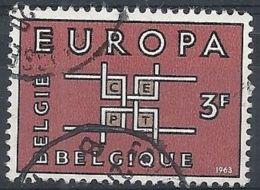 1963 BELGIO USATO EUROPA 3 F - 8 - Europa-CEPT
