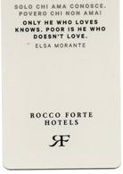 HOTEL-ROOM KEY CARD-ITALIA-ROCCO FORTE HOTELS - Chiavi Elettroniche Di Alberghi