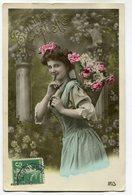 CPA - Carte Postale - Fantaisie - Femme - Bonne Fête - Fleurs ( CP5363 ) - Femmes