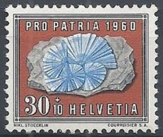 1960 SVIZZERA PRO PATRIA 30 CENT MNH ** - SZ163 - Nuovi