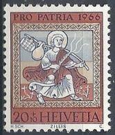 1966 SVIZZERA PRO PATRIA DIPINTI 20 CENT MNH ** - SZ168 - Nuovi