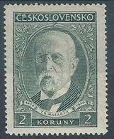 1930 CECOSLOVACCHIA TOMAS GARRIGUE MASARYK 2 K MH * - CZ015 - Cecoslovacchia