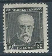 1937 CECOSLOVACCHIA THOMAS GARRIGUE MASARYK MH * - CZ002 - Cecoslovacchia