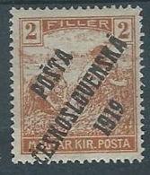 1919 CECOSLOVACCHIA SOPRASTAMPATO 2 F UNGHERIA MIETITORI MH * - CZ026 - Cecoslovacchia