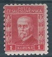 1925 CECOSLOVACCHIA TOMAS GARRIGUE MASARYK 1 KR MH * - CZ021 - Cecoslovacchia