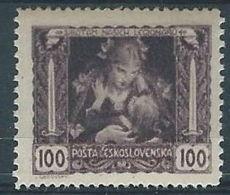 1919 CECOSLOVACCHIA INDIPENDENZA 100 H D 13 3/4 X 11 1/2 MH * - CZ030 - Cecoslovacchia
