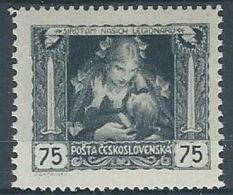 1919 CECOSLOVACCHIA INDIPENDENZA 75 H D. 13 3/4 X 11 1/2 MH * - CZ029 - Cecoslovacchia
