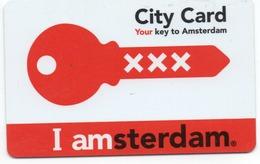 HOTEL-ROOM KEY CARD-CITY CARD AMSTERDAM-HOLAND - Chiavi Elettroniche Di Alberghi