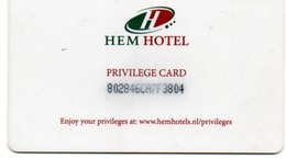 HOTEL-ROOM KEY CARD-HEM HOTEL  AMSTERDAM-HOLAND - Chiavi Elettroniche Di Alberghi