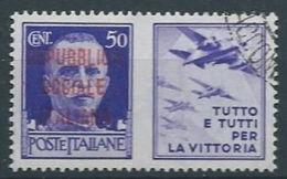 1944 RSI USATO PROPAGANDA DI GUERRA 50 CENT - RR13120-4 - 4. 1944-45 Repubblica Sociale