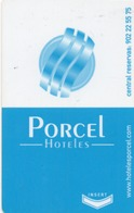 HOTEL-ROOM KEY CARD-PORCEL HOTELES-GRANADA - Chiavi Elettroniche Di Alberghi