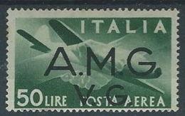 1945-47 TRIESTE AMG VG POSTA AEREA 50 LIRE MH * - RR13175-2 - Nuovi