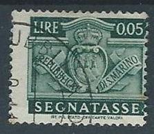 1945 SAN MARINO USATO SEGNATASSE 5 CENT - RR13288 - Segnatasse