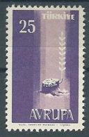 1958 EUROPA TURCHIA 25 K MH * - EV-2 - Europa-CEPT