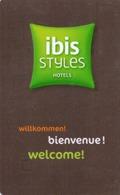 HOTEL-ROOM KEY CARD-IBIS-BRUSSELES-BELGIO - Chiavi Elettroniche Di Alberghi