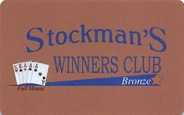 Stockman's Casino - Fallan, NV - Slot Card - Casino Cards