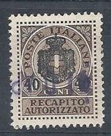 1945 LUOGOTENENZA USATO REC. AUTORIZZATO - RR8384-8 - 5. 1944-46 Lieutenance & Umberto II