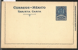 J) 1934 MEXICO, CROSS OF PALENQUE, 10 CENTS BLUE, CENTRAL POST OFFICE-MEXICO, POSTAL STATIONARY - Mexico