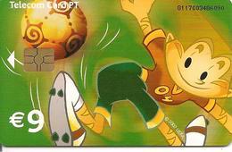 CARTES-PUCE-PORTUGAL-9 €-01/04-FOOT-COUPE EURO 2004-UTILISE-TBE- - Portugal