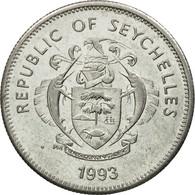 Monnaie, Seychelles, 25 Cents, 1993, Pobjoy Mint, TTB, Nickel Clad Steel, KM:49a - Seychelles