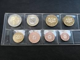 Lettland Kms 1 Cent - 2 Euro 3,88 Euro 2018 Sehr RAR Mit 2 Euro Gedenkmünzen - Lettonie