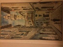 Acquarello Firenze Palazzo Vecchio Firmato G Z - Watercolours