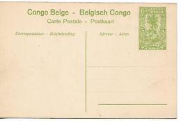 CONGO 1919 BELGIAN BELGE BELGISH PC  Shinkakasa PC UNUSED - Congo Belge