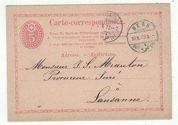Suisse // Schweiz // Switzerland //  Entiers Postaux  //  Entier Postal Au Départ De Bern Le 10.10.1873 - Ganzsachen
