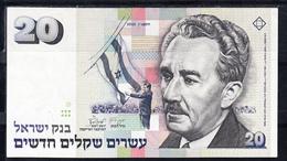 ISRAEL 1993   20 SHEQALIM  . POLITICO ONDEANDO BANDERA DE ISRAEL.  EBC   B1183 .VER FOTO - Israel