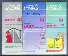 K140- ECUADOR 1990 NATIONAL CENSUS OF POPULATION & HOUSING SOUVENIR. - Ecuador